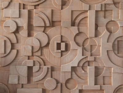 Composición de formas geométricas bajo la dirección de Echeverría en la Escuela de Artes Aplicadas y Oficios Artísticos de Corella, Navarra
