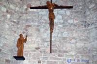 Santo Cristo en diálogo con San Francisco para la iglesia homónima de Alcázar de San Juan, Ciudad Real. Foto: JoséDelgado Pozo