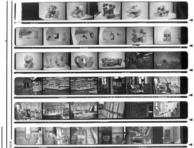 Contactos fotográficos del taller de Juan Miguel Echeverría y obra