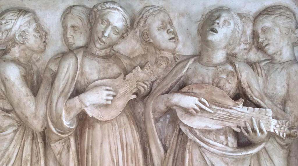 Copia de escena de Lucca Della Robbia para la cantoría de la iglesia de Santa María del Fiore de Florencia