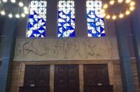 Detalle del interior de la Iglesia de la Inmaculada de Pamplona